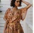 Spell & the Gypsy Collective Pink New Buttercup Caramel Short Casual Dress Size 8 (M) Spell & the Gypsy Collective Pink New Buttercup Caramel Short Casual Dress Size 8 (M) Image 3