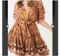 Spell & the Gypsy Collective Pink New Buttercup Caramel Short Casual Dress Size 8 (M) Spell & the Gypsy Collective Pink New Buttercup Caramel Short Casual Dress Size 8 (M) Image 5
