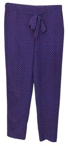 Tory Burch Trouser Pants Blue Red