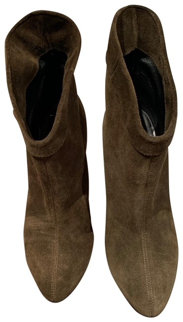 Item - Olive Suede Ankle Boots/Booties Size EU 38 (Approx. US 8) Regular (M, B)