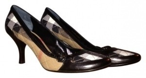 Burberry Black Plaid Pumps