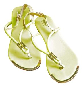 Mossimo Supply Co. Gold Nude Strap extreme yellow Sandals