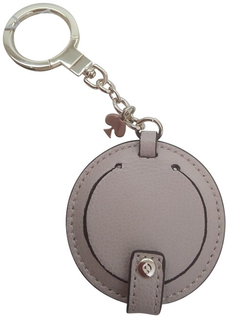 Item - Tan New Circle Mirror Key Fob