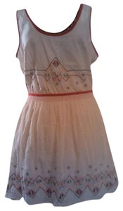 Dolls Point short dress Cream Indian Embroidered Boho Bohemian Demure on Tradesy