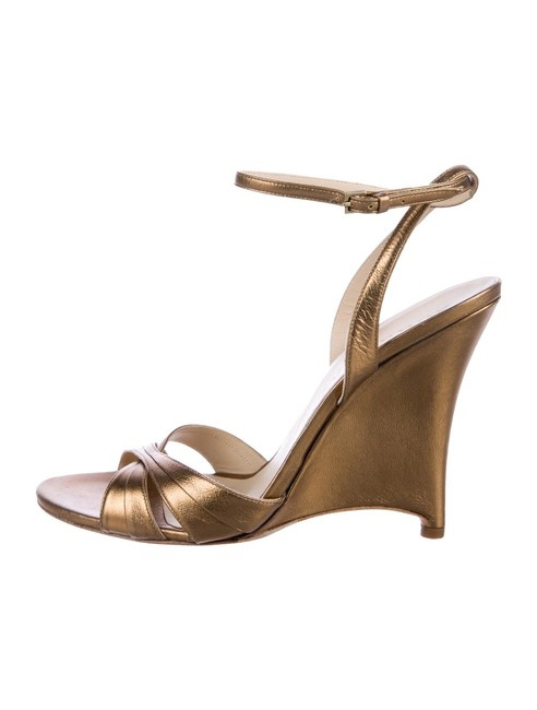 Burberry Copper/Gold Shelma Sandal Wedges Size US 8 Regular (M, B) Burberry Copper/Gold Shelma Sandal Wedges Size US 8 Regular (M, B) Image 1