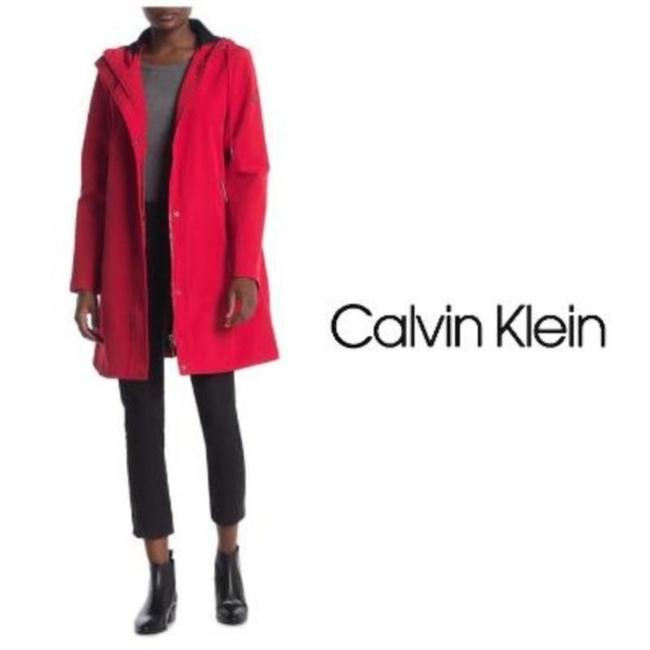 Item - Red Softshell Hooded Jacket Style #cw04m568 Coat Size 6 (S)