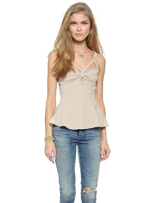Item - Sand Quilted Royalty Tank Top/Cami Size 2 (XS)