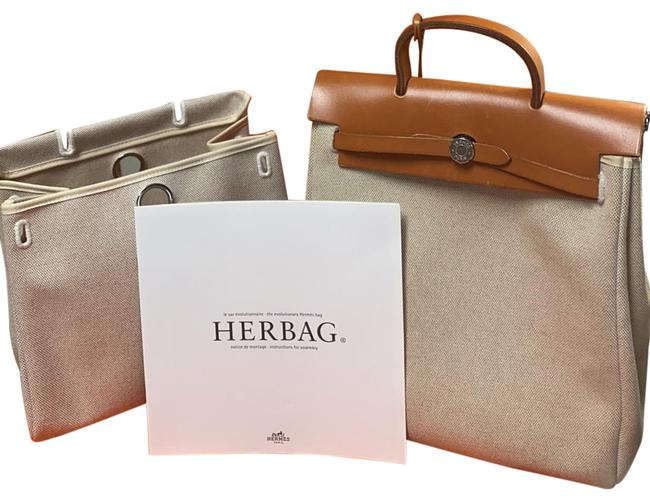 Item - Herbag Toile with Extra Small Replacement Beige Canvas Backpack
