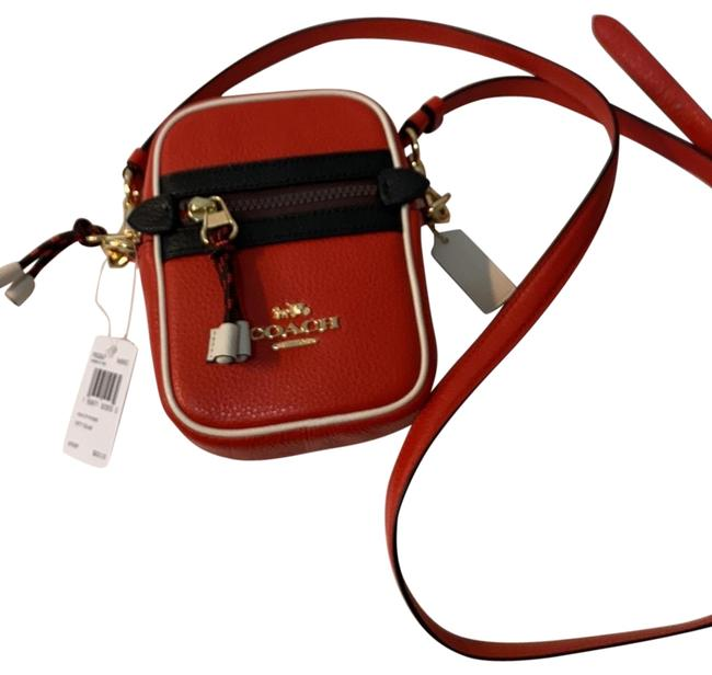 Item - Phoebe Vale In Color Block Red Leather Cross Body Bag