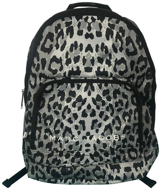 Marc Jacobs All Star Leopard Printed Black / Light Grey Multi Textile Exterior and Lining Backpack Marc Jacobs All Star Leopard Printed Black / Light Grey Multi Textile Exterior and Lining Backpack Image 1