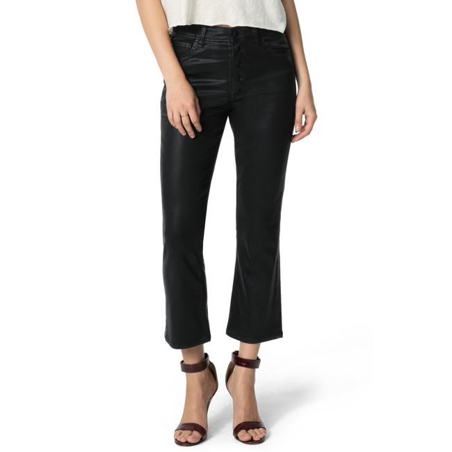 Item - Black Coated The Callie High Waist Crop Capri/Cropped Jeans Size 26 (2, XS)