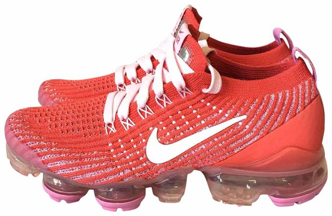 Item - Red Pink White Air Vapormax Flyknit 3 Track Sneakers Size US 5.5 Regular (M, B)