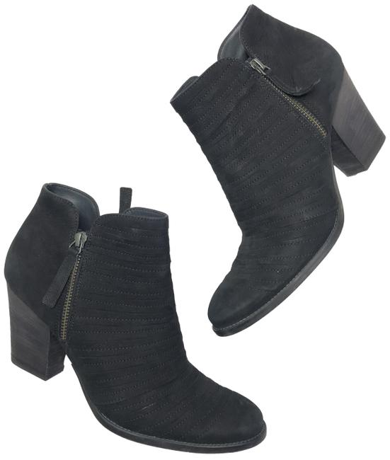 Item - Black 6.5 Leather Ankle Double Zip Moto Boots/Booties Size US 9 Regular (M, B)