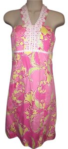 Lilly Pulitzer short dress Pink Multicolor Floral on Tradesy