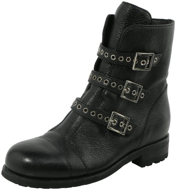 Item - Black Dover Triple Buckle Leather Boots/Booties Size US 5 Regular (M, B)