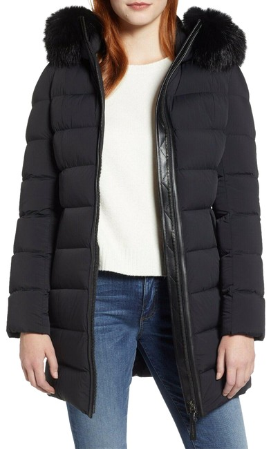 Mackage Black Calla Genuine Fox Fur Trim Hooded Down Women's Coat Size 2 (XS) Mackage Black Calla Genuine Fox Fur Trim Hooded Down Women's Coat Size 2 (XS) Image 1