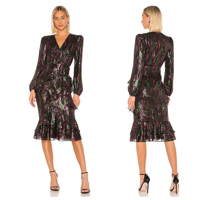 Item - Multicolor Alya Mid-length Night Out Dress Size 8 (M)