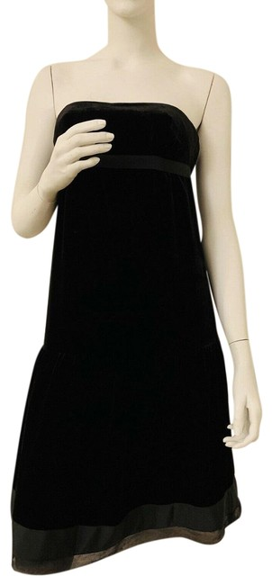 Juicy Couture Black Velvet Velour Lined In Silk Top New Mid-length Cocktail Dress Size 4 (S) Juicy Couture Black Velvet Velour Lined In Silk Top New Mid-length Cocktail Dress Size 4 (S) Image 1