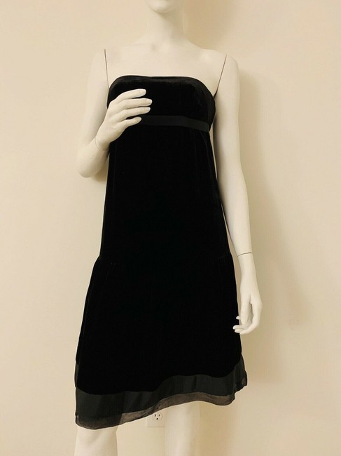 Juicy Couture Black Velvet Velour Lined In Silk Top New Mid-length Cocktail Dress Size 4 (S) Juicy Couture Black Velvet Velour Lined In Silk Top New Mid-length Cocktail Dress Size 4 (S) Image 3