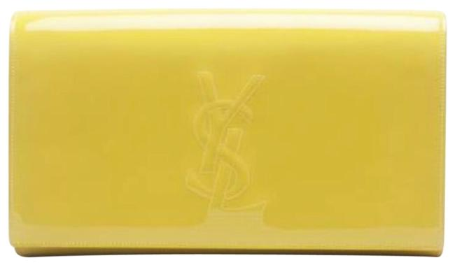 Item - Belle de Jour Ysl Calfskin Large. Yellow Patent Leather Clutch