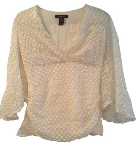 Style & Co Polka Dot Top Cream