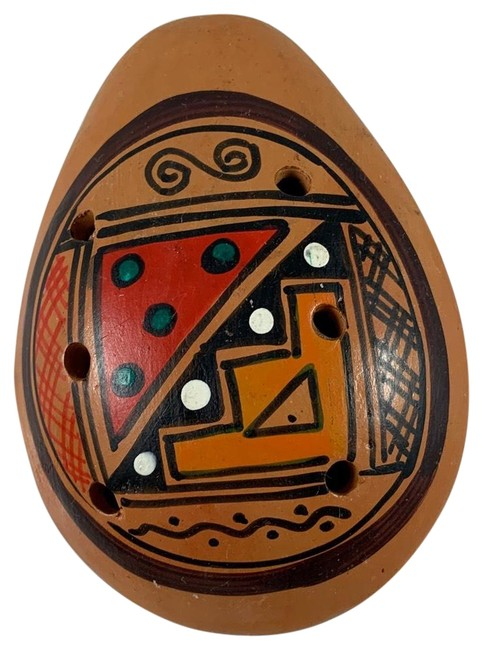 Item - Brown African Culture Hand Painted Mouse Decor