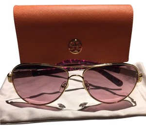 Tory Burch Tory Burch Pink and Gold Aviators