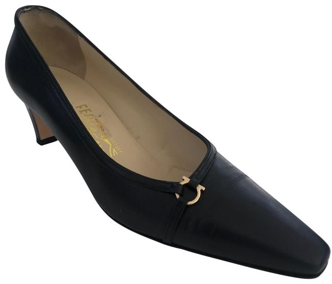 Item - Navy Nadar Pumps Size US 6.5 Regular (M, B)