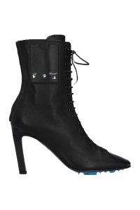 Item - Black Ankle Smooth Leather Boots/Booties