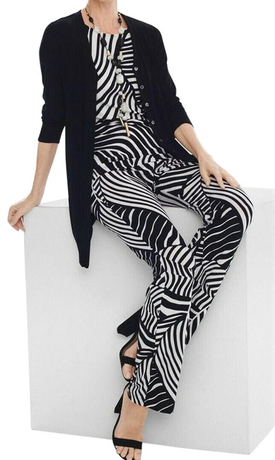 Item - Black and Creme Travelers Soft By Pants Size 18 (XL, Plus 0x)