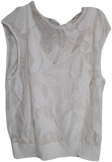 Item - White Embroidery and Cami Blouse Size 12 (L)