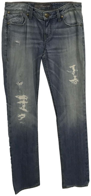 Item - Blue Distressed Classic Straight Leg Jeans Size 27 (4, S)