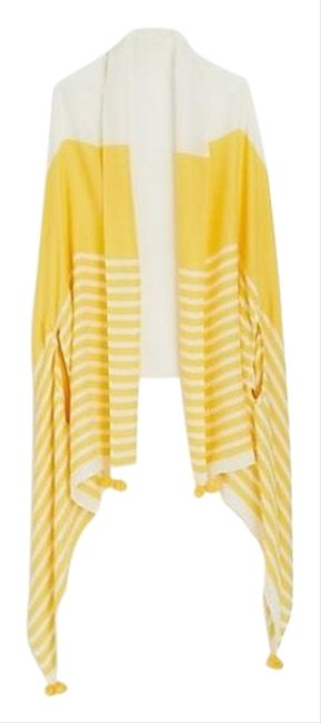 Item - Yellow and Ivory Summerweight Cape Scarf Cardigan Size 4 (S)