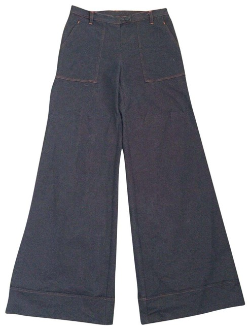 Item - Dark/Red Rinse High Waisted Flare Leg Jeans Size 28 (4, S)