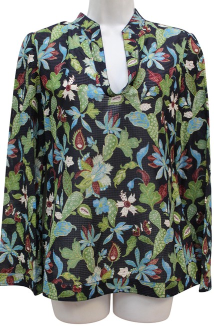 Item - Multicolor Stephanie Tunic Garden Wisteria Blouse Size 2 (XS)