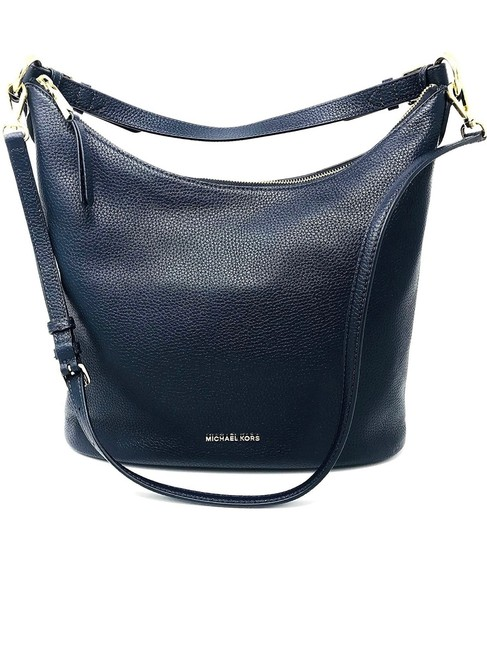 Item - Lupita Convertible Admiral Navy Blue Leather Hobo Bag