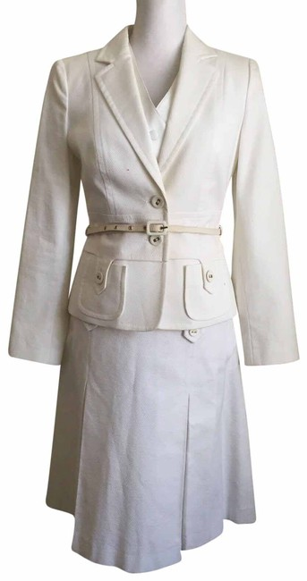 Item - White 4 Piece Skirt Suit Size 10 (M)