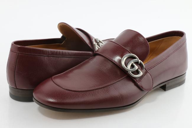 Item - Burgundy Leather Loafer with Double G Shoes