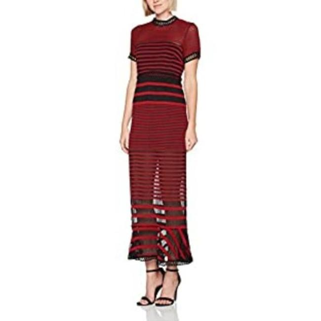 Item - Red Foxiedox Cassius Striped Long Casual Maxi Dress Size 8 (M)
