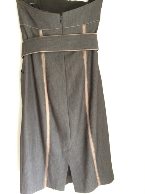 bebe Worktoparty Strapless Tailored Pockets Dress
