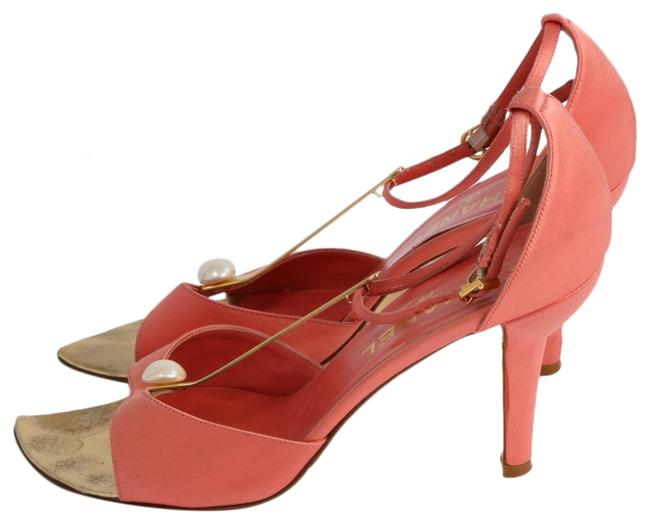 Item - Pink Satin Pearl Heels Sandals Size US 8 Regular (M, B)