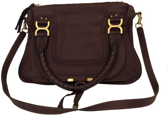 Item - Marcie Medium Plum Calfskin Leather Satchel