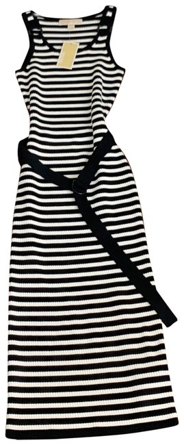 Item - Black and White Stripped Sleeveless Mid-length Casual Maxi Dress Size 4 (S)