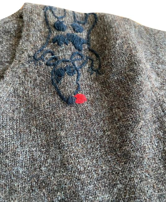 Item - With Tiny Dog Detail On Shoulder Brown Sweater