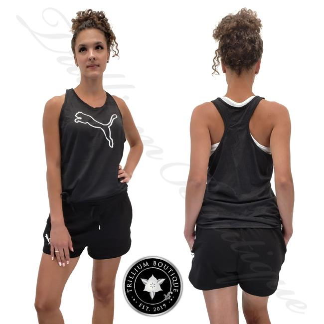 Item - Black Women's Tie Cat Logo Tank Activewear Top Size 4 (S)