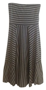 Maurices short dress Grey Striped Strapless on Tradesy