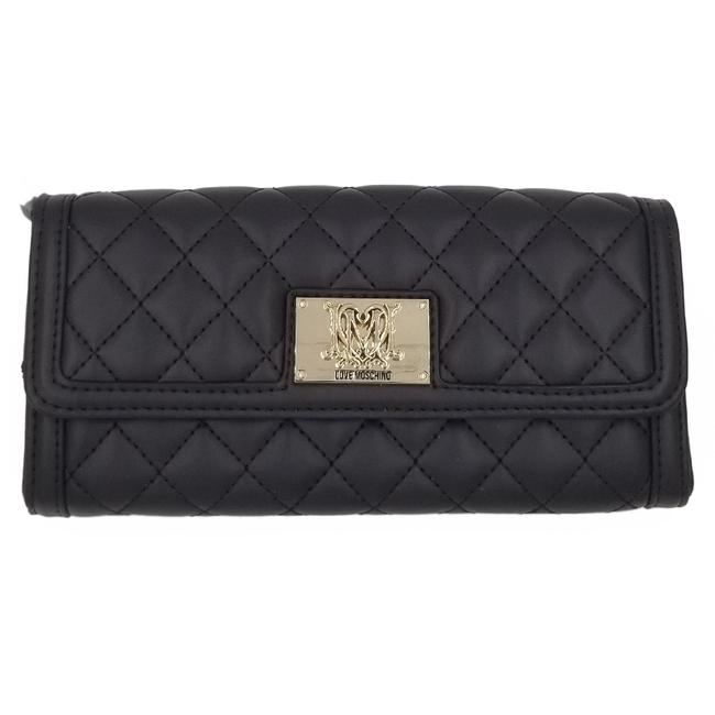 Item - Signature Super Quilted Deluxe Continental Luxury Wallet Gold Dark Brown Leather Clutch