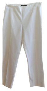 Elie Tahari Cropped Side Zipper Trousers Capri/Cropped Pants White