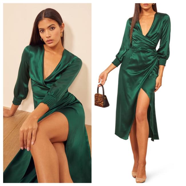 Item - Green Chantelle Mid-length Night Out Dress Size 8 (M)