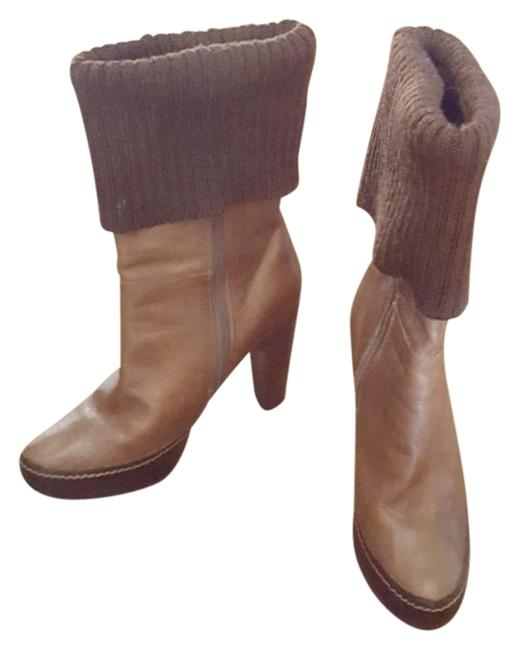 Item - Brown Sweater Cuff Boots/Booties Size US 9 Regular (M, B)